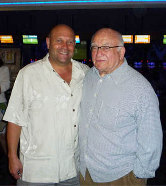 Ed Asner and Mikey Weinstein