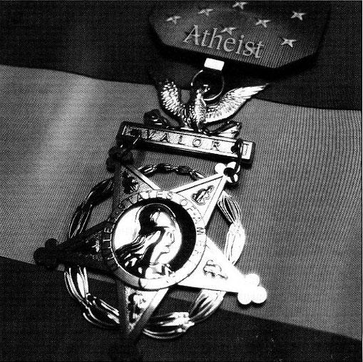Atheist badge photo
