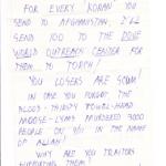 MRFF Hate Mail