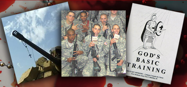 Why does our military support deplorable crusader imagery and verbiage?