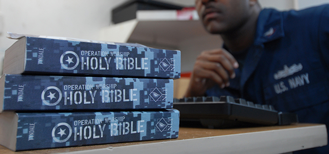 The powerful Christian fundamentalist lobby has successfully fought to make Gideons Bibles a permanent, proselytizing fixture in the global network of U.S. Navy-administered, federally funded, military installation lodging facilities or hotels.