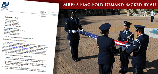 Flag-Folding Ritual Contains Religious Symbolism, Church-State Watchdogs Assert