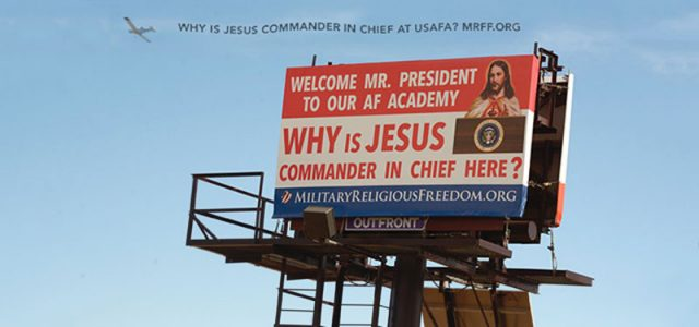 MRFF's All-Out Media Blitz Highlights USAFA's Unconstitutional Christian Supremacy During President Obama's Graduation Week Visit. The Military Religious Freedom Foundation's Message to President Obama: The United States Air Force Academy is a 12-Year Train Wreck of Unconstitutional Christian Supremacy.