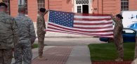 A battle over a flag-folding speech on Travis Air Force Base has raised questions...