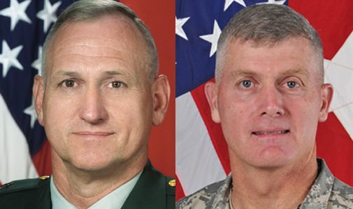 The commanding general of the 1st Infantry Division at Fort Riley in Kansas has been suspended only 13 months after taking command there, the Pentagon announced Friday.