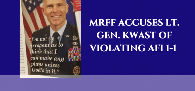 The Military Religious Freedom Foundation (MRFF) sent a formal third party Inspector General Complaint, dated Thursday, January 19th, 2017, to Maxwell Air Force Base (AFB) in Montgomery, Alabama on behalf of its 33 clients (22 of whom are practicing Christians)...
