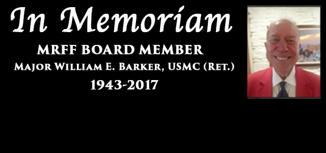 My dear beloved friend retired US Marine Corps Major Bill Barker passed away late last night here in Albuquerque New Mexico…