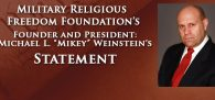 """MRFF has for many years observed the cowardly and non-confrontational behavior of the so-called """"Jewish Welfare Board"""" (JWB) ..."""