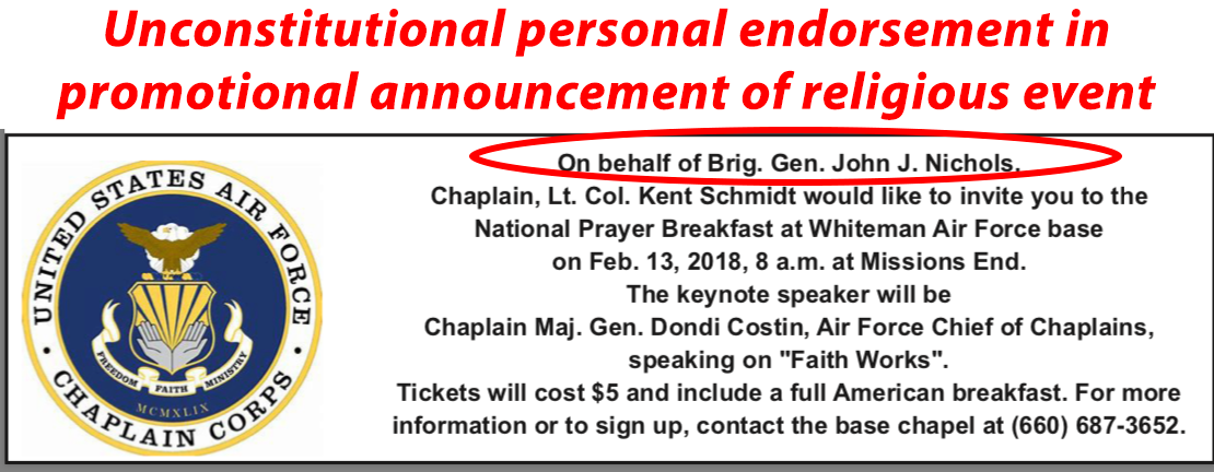 Brig  Gen  John J  Nichols personally endorses