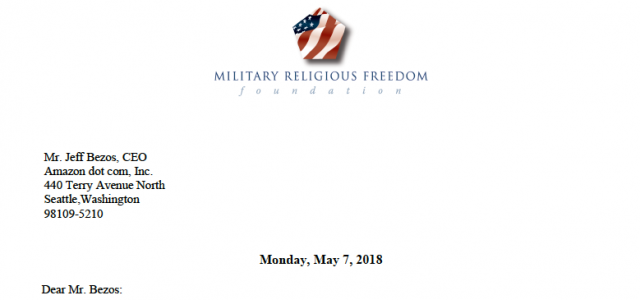 MRFF fervently disagrees 100% with ADF's views, but respects their fight for conscience, their understanding of human life, and their commitment to their conception of religious freedom.