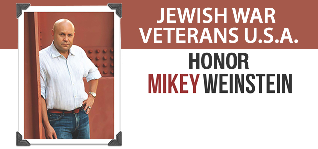 Jewish War Veterans of the United States of America (JWF), Department of Minnesota, recognizes Mikey Weinstein as Guest of Honor and Principal Speaker at the Department's Annual Membership Dinner. Click to read more.