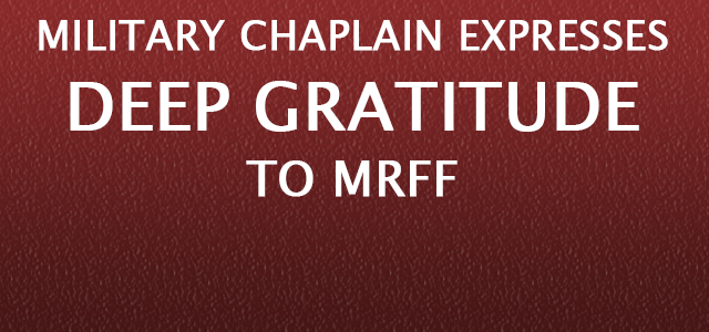 """""""Sir, as I make my end of year contribution to MRFF this morning I want to express my sincerest gratitude to you and MRFF for your tremendous support..."""" Click to read more."""