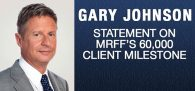 "Former NM Governor, U.S. Presidential Candidate, MRFF Advisory Board Member Gary Johnson is ""proud of the work[...]"""