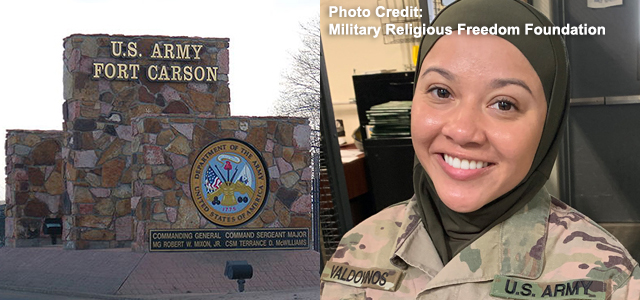 """""""Fort Carson's investigation of a religious discrimination complaint regarding a Muslim soldier who was ordered to remove her hijab in public has cleared Command Sergeant Major Kerstin Montoya, the Gazette reported. [...]"""" Click to read more."""
