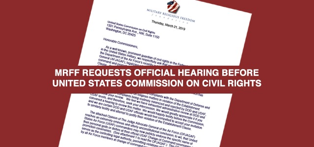 """""""Honorable Commissioners, As a well-known, prominent guardian of civil rights in the Federal government, especially in the United States military, we respectfully ask that you urgently consider our objections..."""" Click to read more."""
