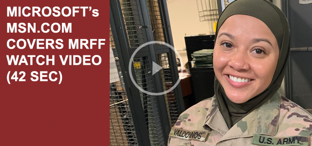 """""""Sergeant Cesilia Valdovinos, 26, says she was left 'feeling naked' after Command Sergeant Major Kerstin Montoya ordered her to remove her head-covering during suicide prevention training..."""