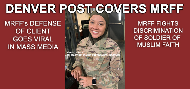 """A Muslim soldier based in Fort Carson intends to sue the U.S. Army over allegations of discrimination and harassment that began shortly after she started wearing a hijab...."" Click to read more"