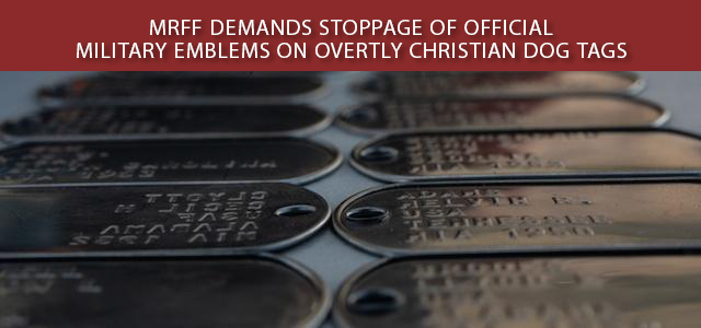 """""""It came to the attention of the Military Religious Freedom Foundation (MRFF) last week that the U.S. Marine Corps..."""" Click to read more."""
