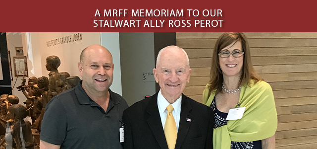 """""""MRFF Founder and President Mikey Weinstein's Statement on the loss of 'a great patriot and an even greater human being' Ross Perot ..."""" Click to read more."""