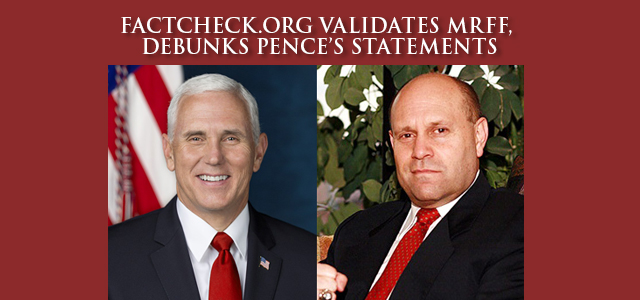 """Let's start with Pence's initial reference to a controversy that unfolded this year (under the Trump administration) at the Manchester VA Medical Center in New Hampshire, where a Bible was displayed atop a 'Missing Man Table' …"" Click to read more"