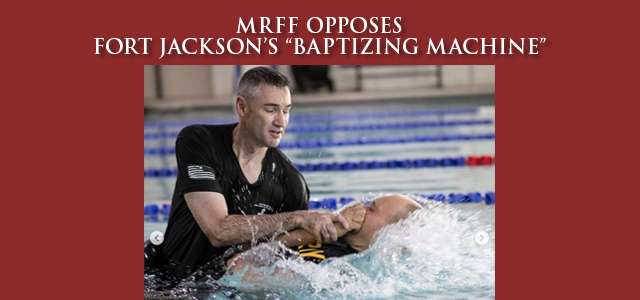 """170 of Fort Jackson's basic trainees lined up to be baptized after a hike. That must have been some hike! But seriously, are we really supposed to believe that 170 trainees all simultaneously found Jesus on the same day without some heavy duty proselytizing or coercion? … "" Click to read"