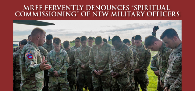 """""""Up until 2009, the OCF's official vision statement was to '… create a spiritually transformed U.S. military with Ambassadors for Christ in uniform empowered by the Holy Spirit …'"""" Click to read"""