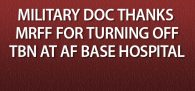 """""""Thank you for your effective and timely intervention on behalf of active duty militarymembers and veterans ... at the storied Wilford Hall medical facility at Lackland AFB ..."""" Click image to read more"""