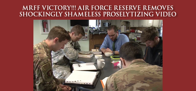 """""""The Air Force Reserve might as well have come out and said: 'Anxious about the coronavirus? You need to find Jesus!'"""" Click Image to Read"""