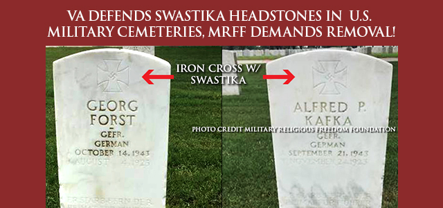 """Allowing these gravestones to remain with the swastikas and messages in place – symbols of hatred, racism, intolerance, and genocide – is offensive to veterans who risked, and often lost, their lives..."" Click to read"