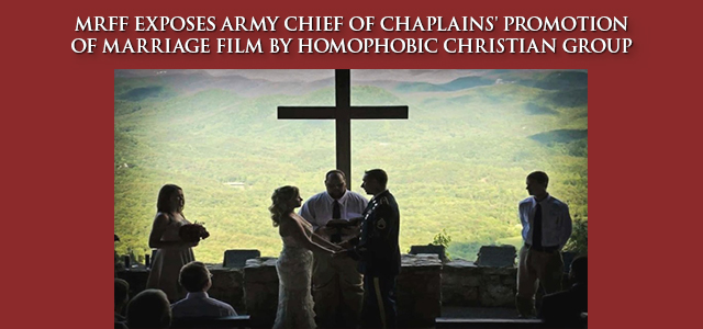 """""""What part of the 'full-court press,' with the Chief of Chaplains randomly checking up on chaplains to make sure they watched it, and chaplains checking up on their units' leaders to make sure that they watched..."""" Click to read"""