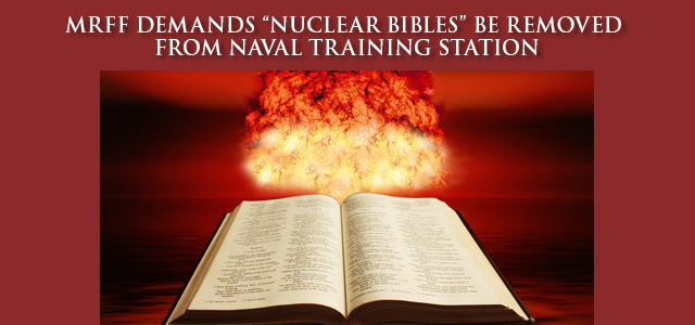 """Nicknamed """"Nuclear Bibles"""" by personnel at the Navy's Nuclear Power Training Unit (NPTU), Bibles emblazoned with the words """"NPTU Bible,"""" have been blatantly displayed for months in the facility's most high traffic area. … Click to read"""