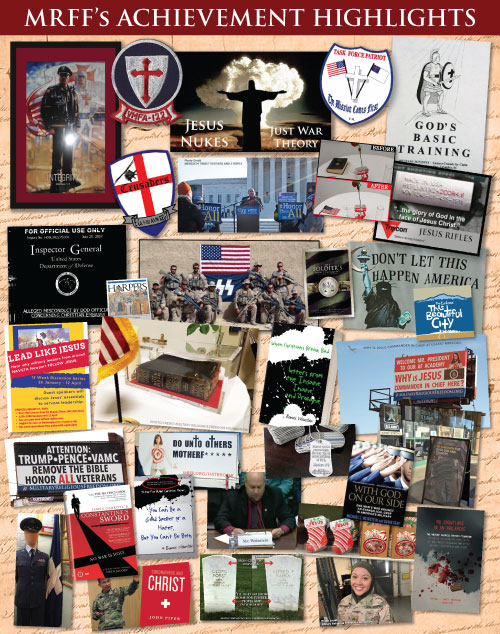 Collage image of notable MRFF achievements selected from those listed below