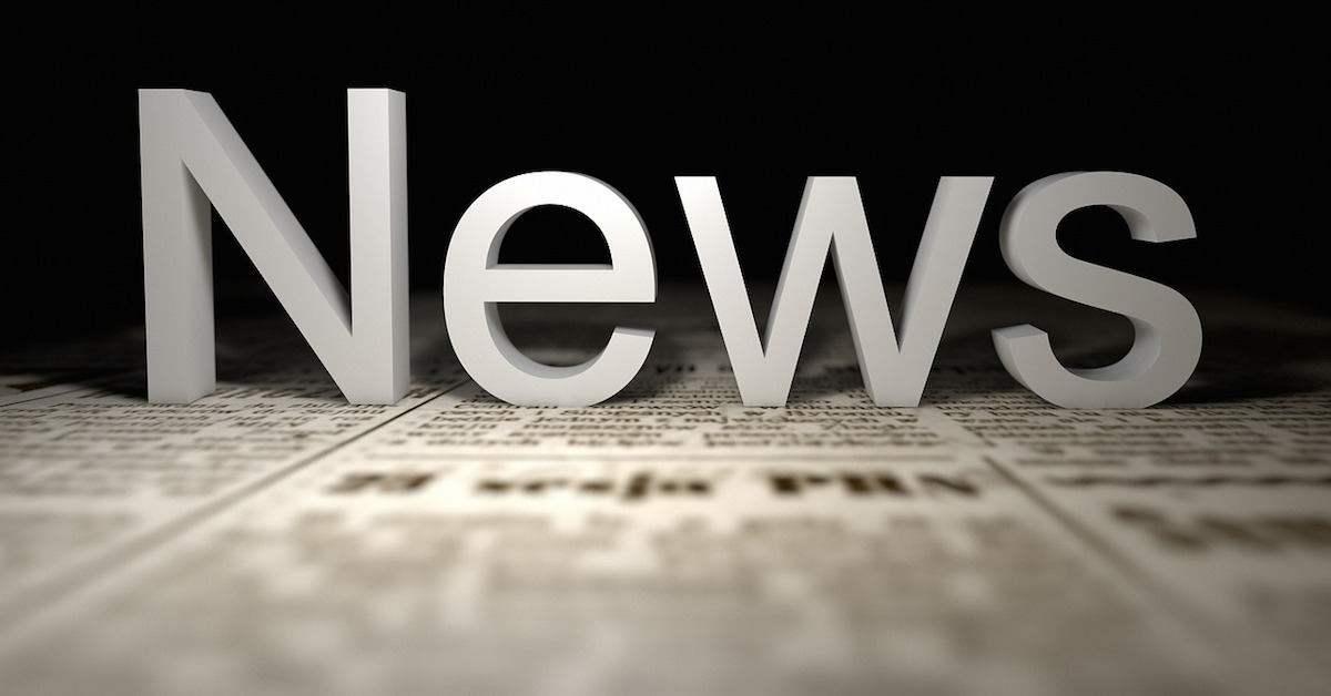 Image of newspaper with the word News