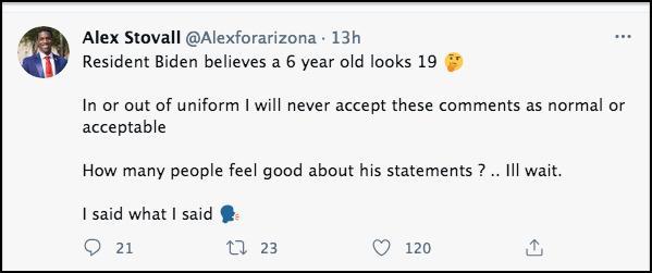 Screenshot of tweet quoted above