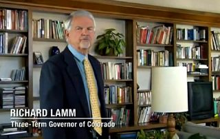 Colorado Governor and MRFF Advisory Board Member Richard Lamm in screenshot from MRFF film With God On Our Side