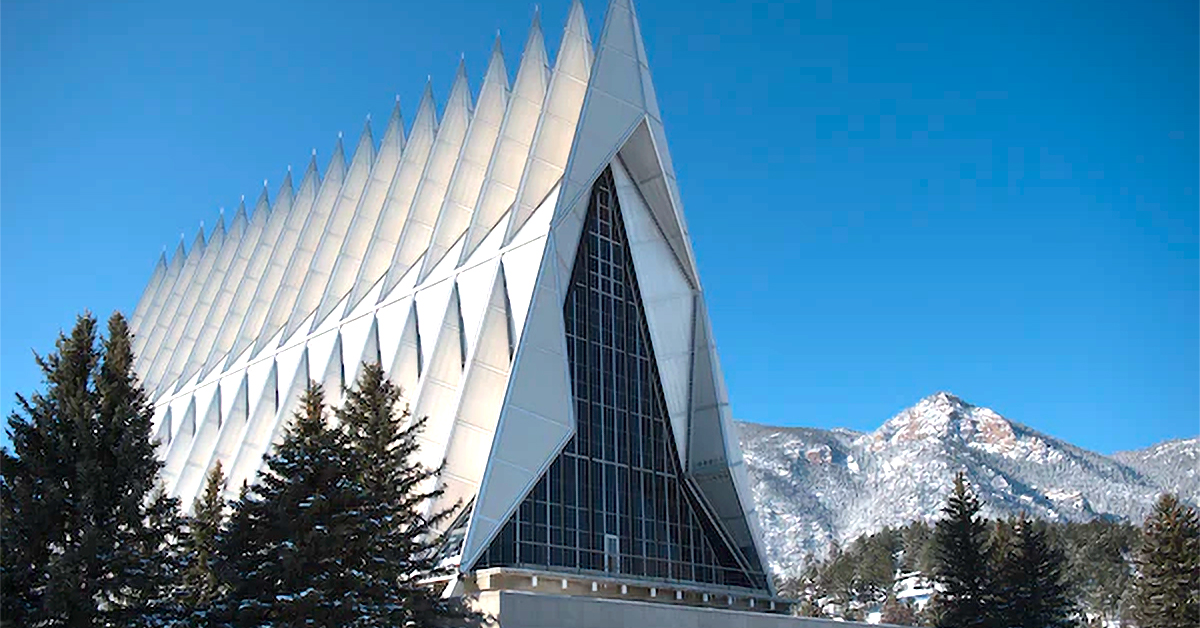 United States Air Force Academy Cadet Chapel Colorado