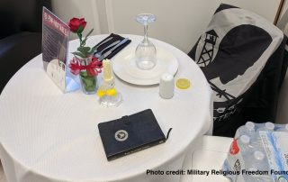 POW MIA table at Navy Operational Support Center Alameda California